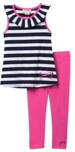 Juicy Couture 2-Pc. Striped Tunic & Leggings Set